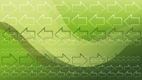 Green Arrows Wallpaper Stock Images