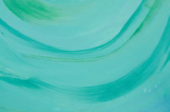 Green art painted background texture Stock Photography