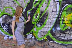 Green, Art, Wall, Graffiti royalty free stock photography