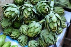 Artichoke in Fes souq. Green Artichoke in Fes souq royalty free stock photos