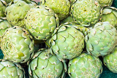 Green artichoke for sale Stock Photography