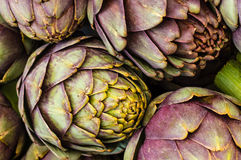 Green artichokes at the farmers market Stock Photo