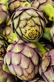 Green artichokes at the farmers market Royalty Free Stock Image