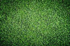Green Artifact grass top view for indoor sport. Field Stock Images
