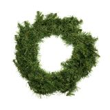 Green Christmas wreath on a white background Stock Photos