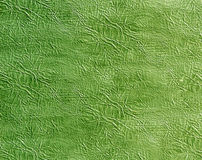 Green artificial leather surface. Royalty Free Stock Photography