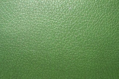 Green artificial leather surface Stock Photography