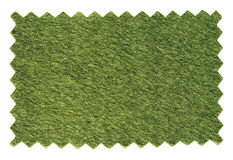 Green artificial synthetic grass meadow sample Royalty Free Stock Images