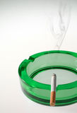 Green Ashtray Royalty Free Stock Images