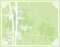 Green Asian grunge bamboo background Royalty Free Stock Image
