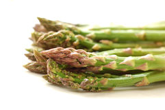 Green asparagus. Fresh green asparagus isolated, on a white background Royalty Free Stock Image
