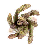 Green asparagus. On white background Royalty Free Stock Image
