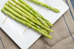 Green Asparagus for barbecue Stock Photo