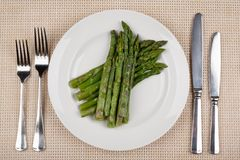 Food in the plate royalty free stock images