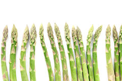 Green asparagus border Stock Photos