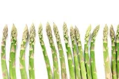 Green asparagus border Stock Photos