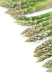 Green asparagus border Stock Photo