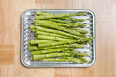 Green Asparagus in bowl Royalty Free Stock Image