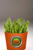 Green Asparagus in a box. Royalty Free Stock Photos