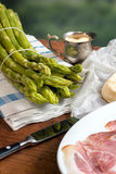 Green Asparagus with Butter and Hollandaise Stock Photography
