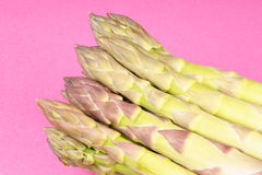 Green asparagus close-up Stock Images