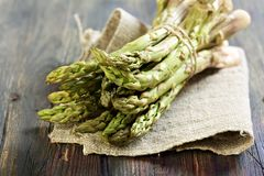 Green asparagus. Royalty Free Stock Images