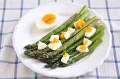 Green Asparagus with eggs Stock Photography