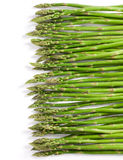 Green asparagus. Fresh green asparagus, background on white Stock Images