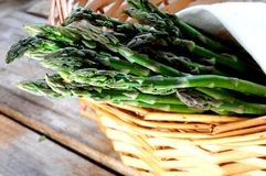 Green asparagus fresh healthy vegetables Royalty Free Stock Images