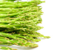 Green asparagus. Fresh green asparagus isolated on white background Stock Images