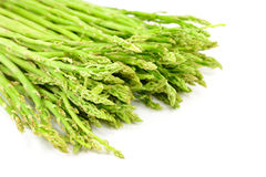 Green asparagus. Fresh green asparagus isolated on white background Royalty Free Stock Photo