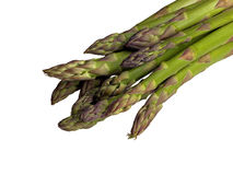 Green asparagus. Heads of isolated  green asparagus Stock Images