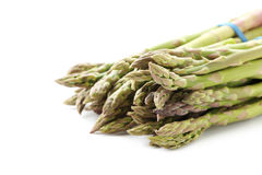 Green asparagus. Isolated on a white background stock images