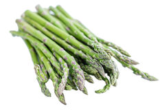 Green Asparagus isolated on white Stock Image