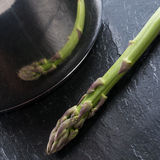 Green asparagus in the pot Stock Image