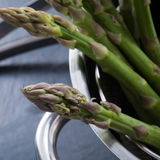 Green asparagus in the pot Royalty Free Stock Images