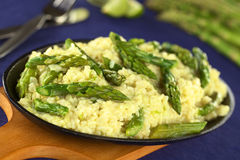 Green Asparagus Risotto Stock Image