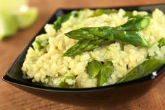 Green Asparagus Risotto Royalty Free Stock Photography
