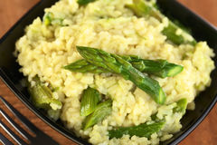 Green Asparagus Risotto Royalty Free Stock Photo
