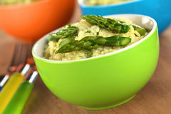 Green Asparagus Risotto Stock Photography