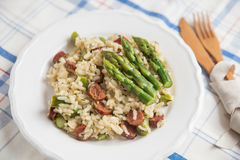 Green Asparagus Risotto royalty free stock image
