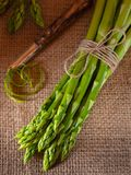 Green asparagus on a rustic background Royalty Free Stock Photography