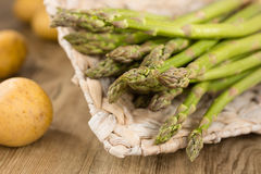 Green asparagus Royalty Free Stock Photos