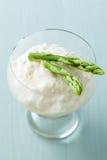 Green asparagus sorbet Royalty Free Stock Photos