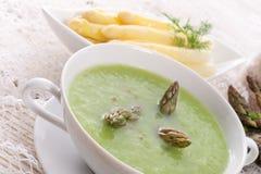Green asparagus soup Royalty Free Stock Photos