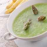 Green asparagus soup Royalty Free Stock Image