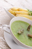 Green asparagus soup Stock Images
