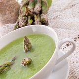 Green asparagus soup Royalty Free Stock Photo