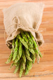 Fresh green asparagus sprouts Royalty Free Stock Photos