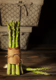 Green Asparagus Standing Royalty Free Stock Image